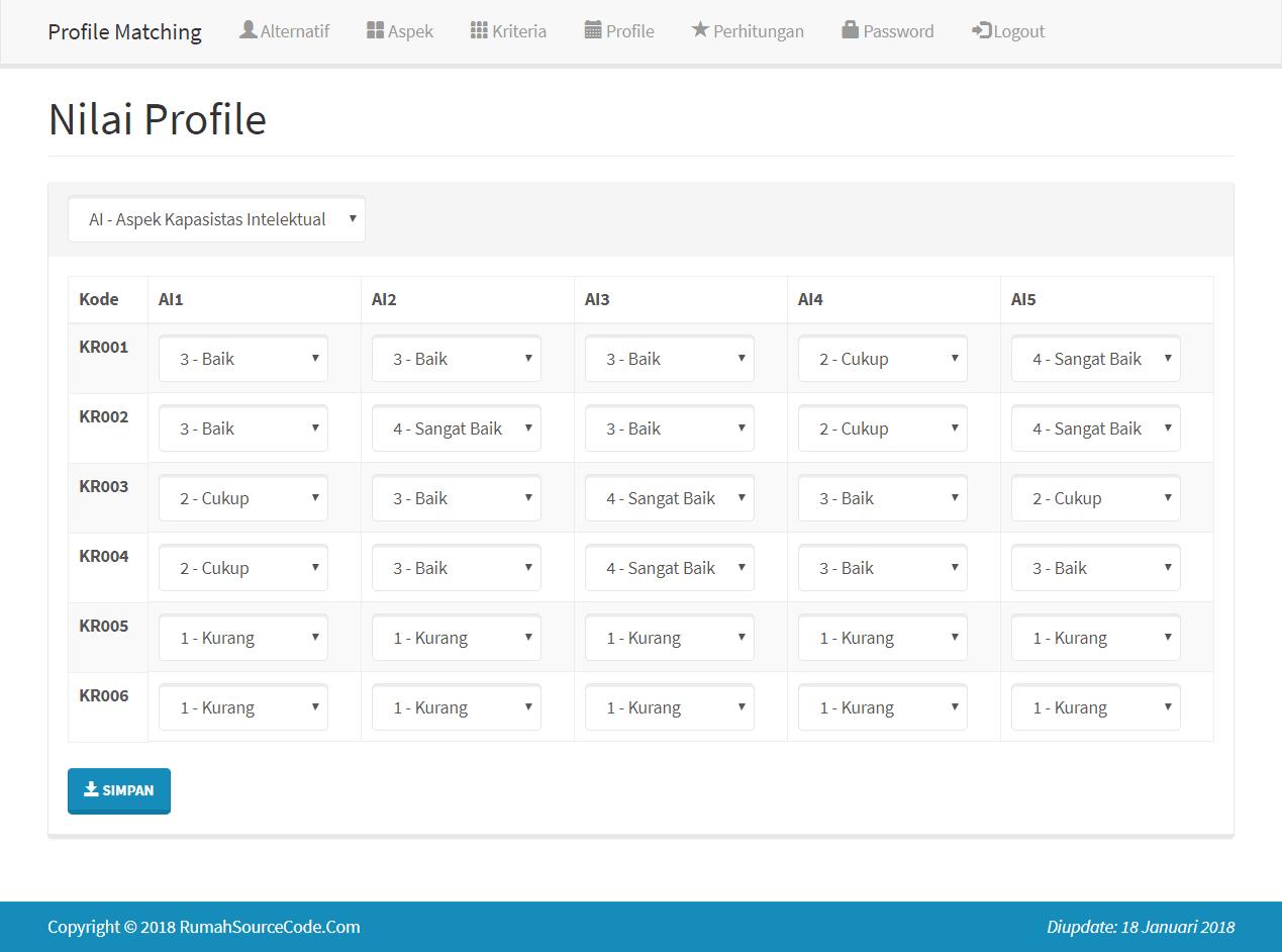 SPK Profile Matching PHP Profile