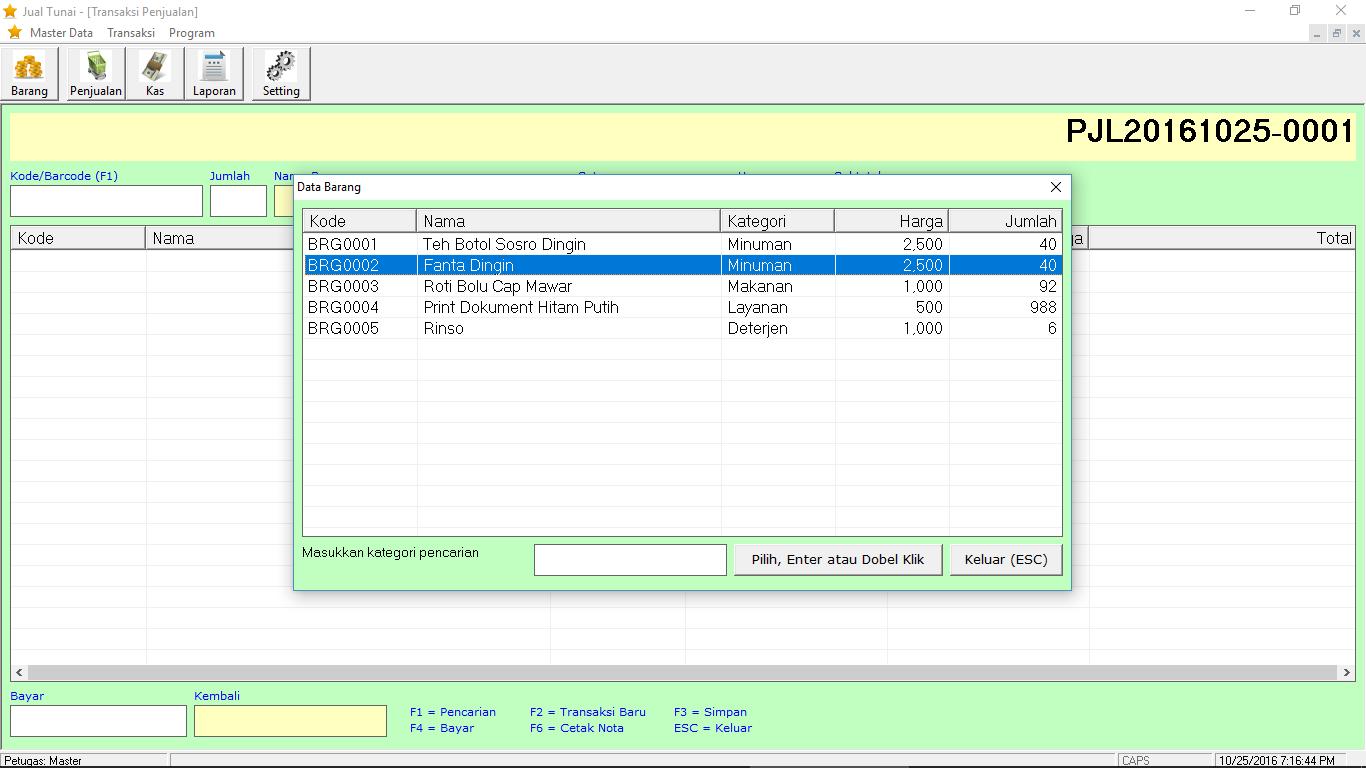 source code sistem informasi penjualan tunai vb6