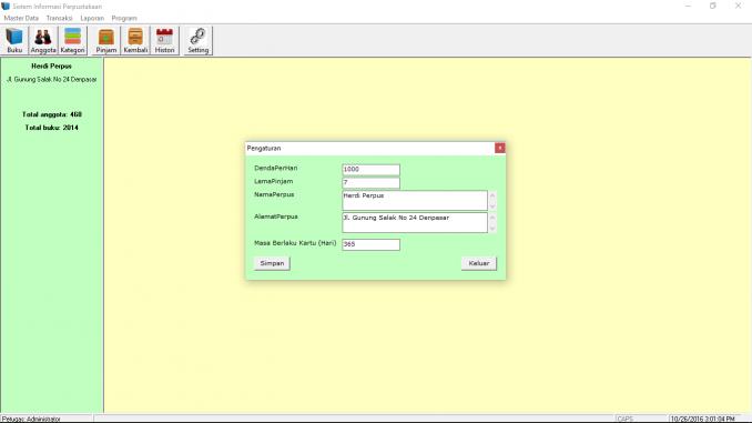 sistem-informasi-perpustakaan-vb6-form-pengaturan