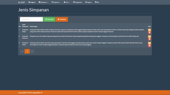 SI Koperasi Simpan Pinjam dengan PHP